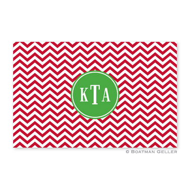 Chevron Red Disposable Holiday Placemat