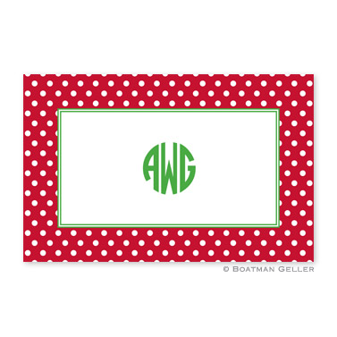 Polka Dot Red Disposable Holiday Placemat