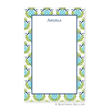 Pineapple Repeat Teal Notepad