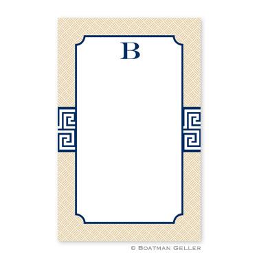 Greek Key Band Navy Notepad