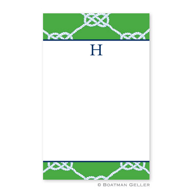 Nautical Knot Kelly Notepad