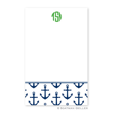 Anchors Navy Notepad
