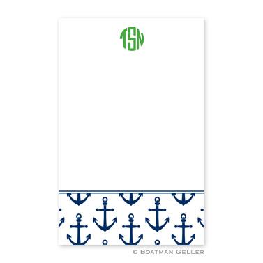 Anchors Navy Notepad