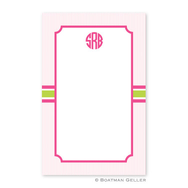 Seersucker Band Pink & Green Notepad