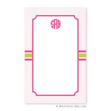 Seersucker Band Pink & Green Notepad