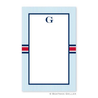 Seersucker Band Red & Navy Notepad