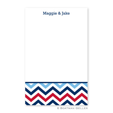 Chevron Blue & Red Notepad