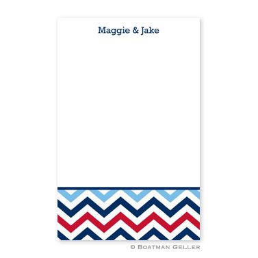 Chevron Blue & Red Notepad