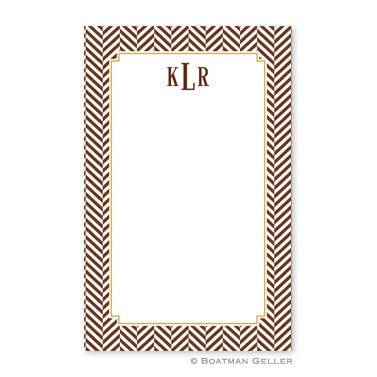 Herringbone Chocolate Notepad
