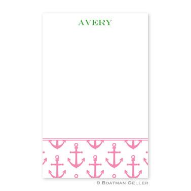 Anchors Pink Notepad