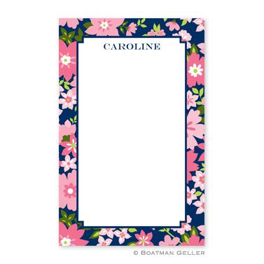 Caroline Floral Pink Notepad