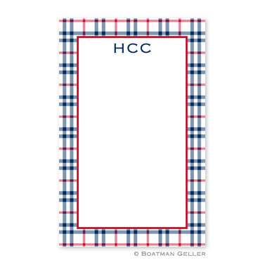 Miller Check Navy & Red Notepad