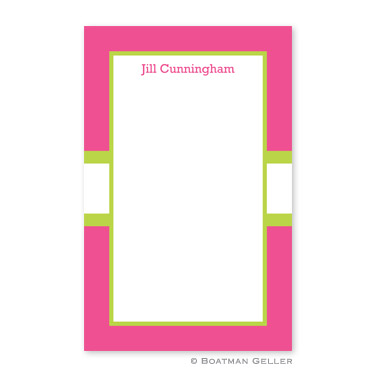 Stripe Raspberry & Lime Notepad