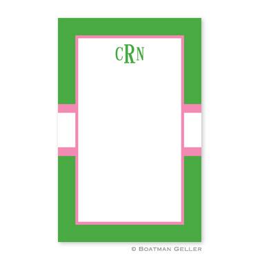 Stripe Kelly & Bubblegum Notepad