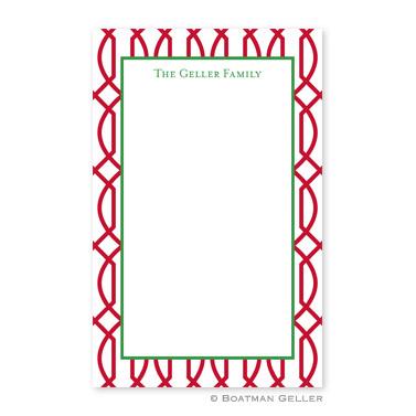 Trellis Reverse Cherry Notepad