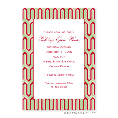 Blaine Cherry Flat Holiday Invitation