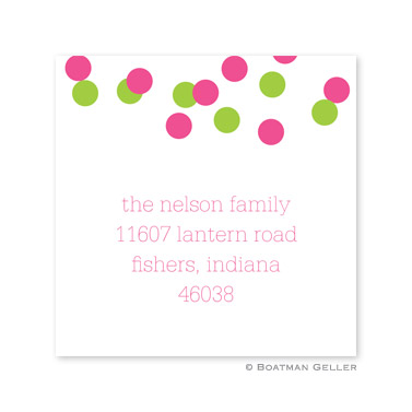 Confetti Pink & Green Holiday Square Sticker