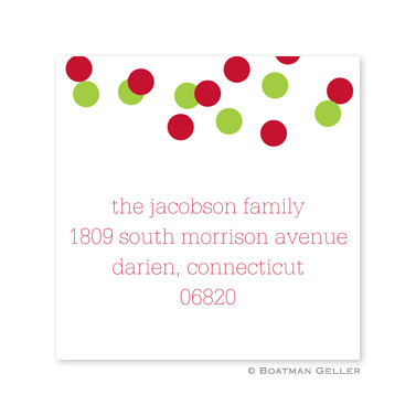 Confetti Red & Green Holiday Square Sticker