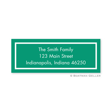 Classic Emerald Holiday Address Label