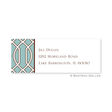 Trellis Slate & Brown Holiday Address Label
