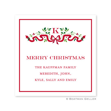 Ribbon Holiday Holiday Square Sticker