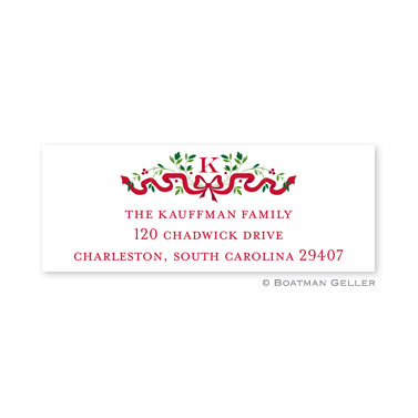 Ribbon Holiday Holiday Address Label