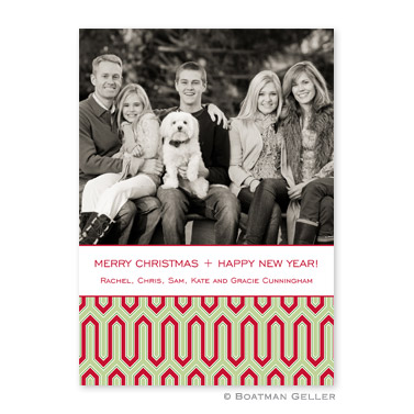 Blaine Cherry Flat Holiday Photocard by Boatman Geller