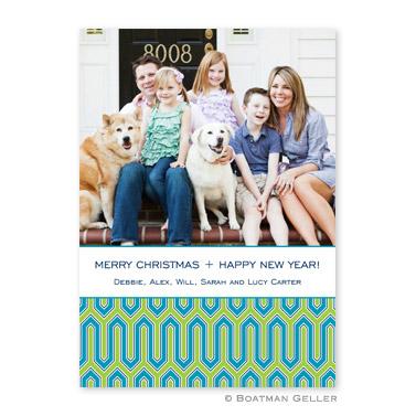 Blaine Turquoise Flat Holiday Photocard