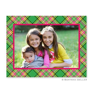 Preppy Plaid Folded Photocard