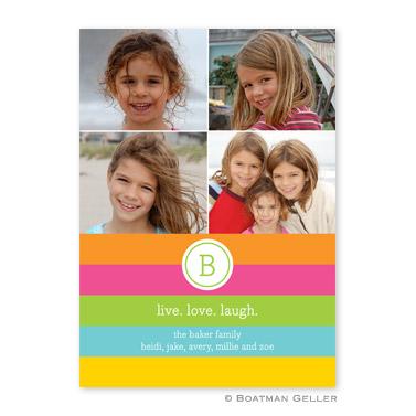 Bold Stripe Flat Holiday Photocard