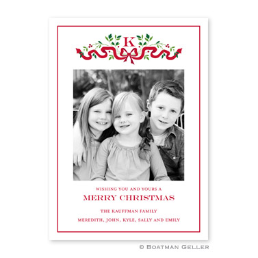 Ribbon Holiday Flat Holiday Photocard