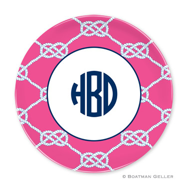 Nautical Knot Raspberry Personalized Plate