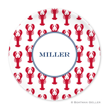 Lobsters Red Personalized Plate