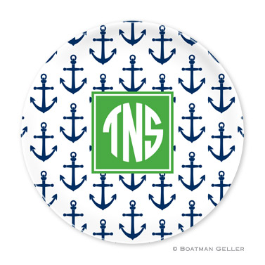 Anchors Navy Personalized Plate