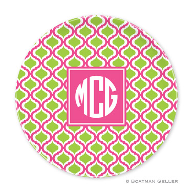 Kate Raspberry & Lime Personalized Plate