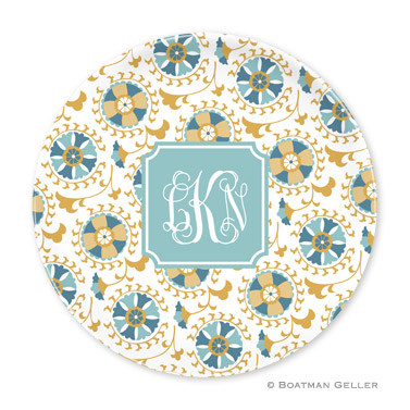 Suzani Gold Personalized Plate