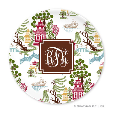 Chinoiserie Autumn Personalized Plate