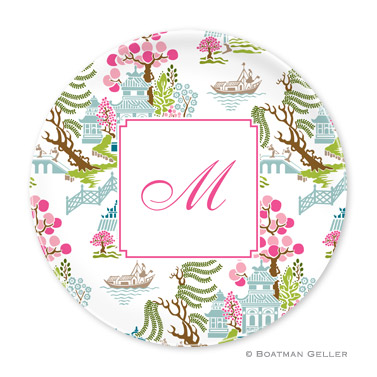 Chinoiserie Spring Personalized Plate