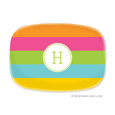 Bold Stripe Personalized Platter