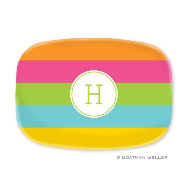 Bold Stripe Personalized Platter