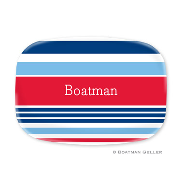 Espadrille Nautical Personalized Platter