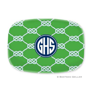 Nautical Knot Kelly Personalized Platter