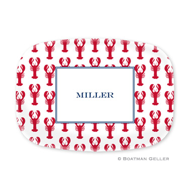 Lobsters Red Personalized Platter