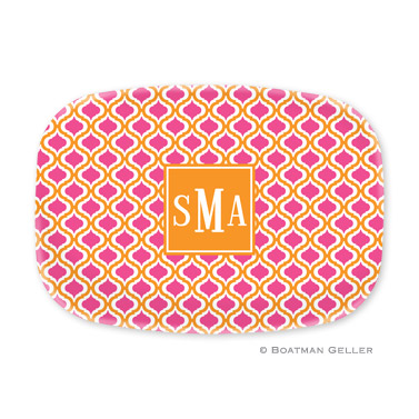 Kate Tangerine & Raspberry Personalized Platter