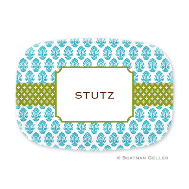 Beti Teal Personalized Platter