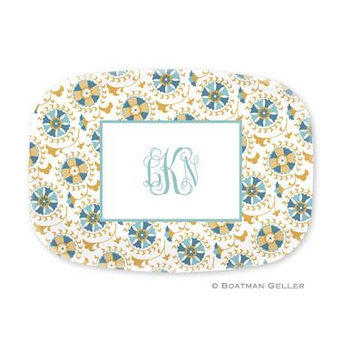 Suzani Gold Personalized Platter