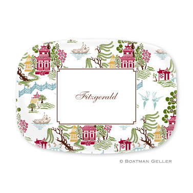 Chinoiserie Autumn Personalized Platter