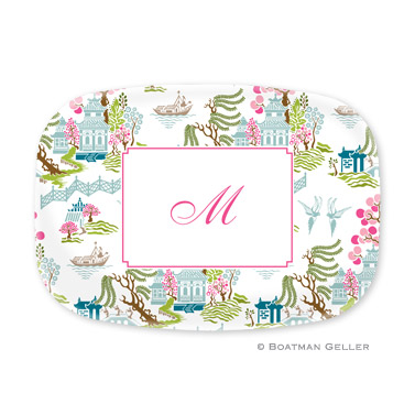 Chinoiserie Spring Personalized Platter