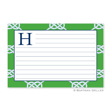 Nautical Knot Kelly Personalized Recipe Cards