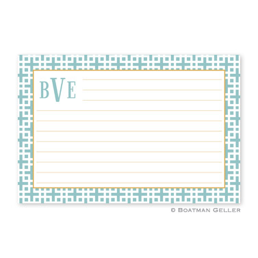 Lattice Slate Personalized Recipe Cards